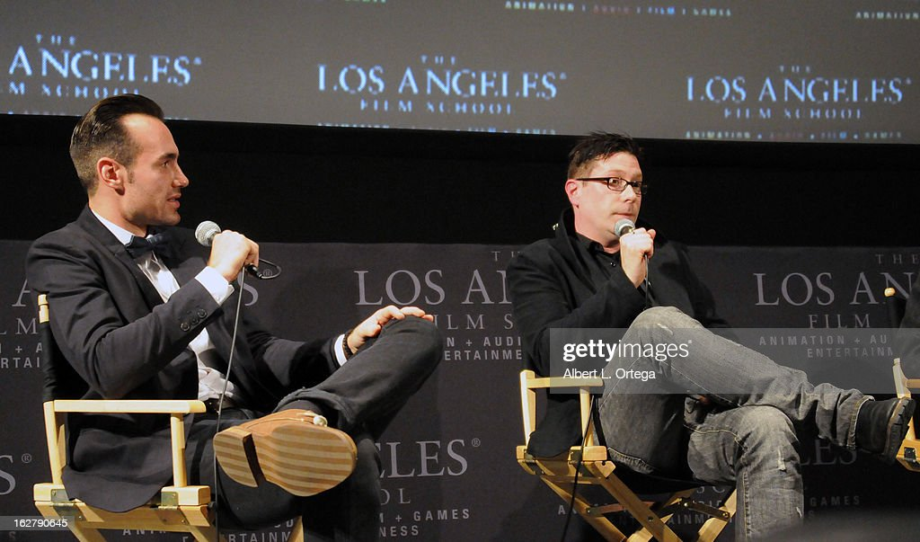 Actor/writer/producer Ivan Djurovic and director Dave Parker attend the Screening and Q&A for 'ColdWater' at The Los Angeles Film School on February 26, 2013 in Hollywood, California.