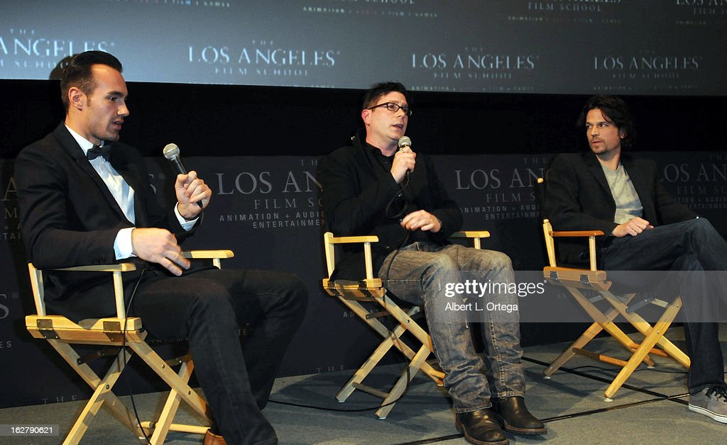 Actor/writer/producer Ivan Djurovic, director Dave Parker and actor Rick Irwin attend the Screening and Q&A for 'ColdWater' at The Los Angeles Film School on February 26, 2013 in Hollywood, California.