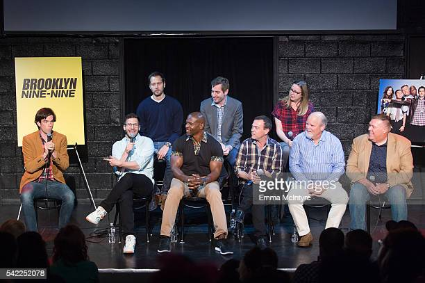 Actor/writer/producer John Mulaney actor/comedian Andy Samberg Executive Producer Dan Goor actor Terry Crews Executive Producer Luke Del Tredici...