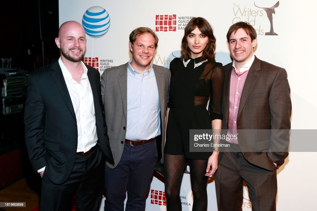 Actor/writers Josh Lay, Cory Cavin, Karme Boixadera and Bill Grandberg attend the 65th Annual Writers Guild East Coast Awards at B.B. King Blues Club & Grill on February 17, 2013 in New York City.