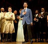 """Hamilton"" Opening Night Curtain Call"