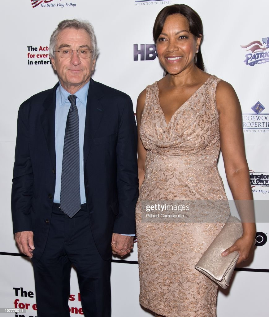 Actot <a gi-track='captionPersonalityLinkClicked' href=/galleries/search?phrase=Robert+De+Niro&family=editorial&specificpeople=201673 ng-click='$event.stopPropagation()'>Robert De Niro</a> and wife <a gi-track='captionPersonalityLinkClicked' href=/galleries/search?phrase=Grace+Hightower&family=editorial&specificpeople=211382 ng-click='$event.stopPropagation()'>Grace Hightower</a> attend the 2013 Actors Fund's Annual Gala Honoring <a gi-track='captionPersonalityLinkClicked' href=/galleries/search?phrase=Robert+De+Niro&family=editorial&specificpeople=201673 ng-click='$event.stopPropagation()'>Robert De Niro</a> at The New York Marriott Marquis on April 29, 2013 in New York City.