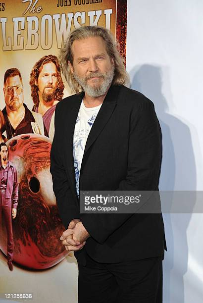 Actpr Jeff Bridges attends 'The Big Lebowski' Bluray release at the Hammerstein Ballroom on August 16 2011 in New York City
