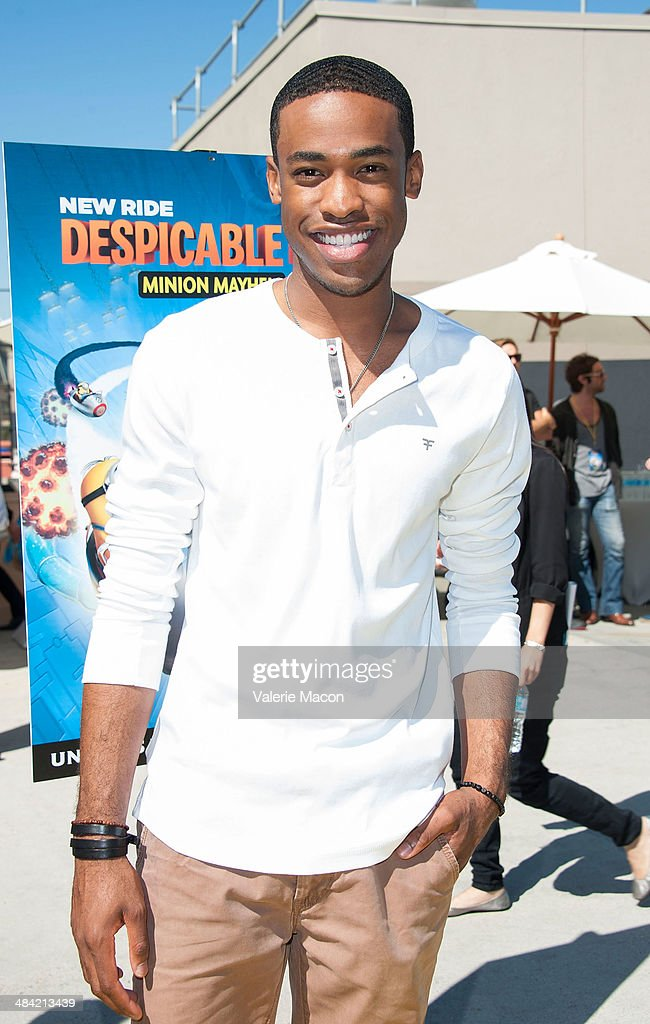 Actr Titus Makin Jr. attends Universal Studios Hollywood Celebrates The Premiere Of New 3D Ultra HD digital Animation Adventure 'Despicable Me Minion Mayhem' at Universal Studios Hollywood on April 11, 2014 in Universal City, California.