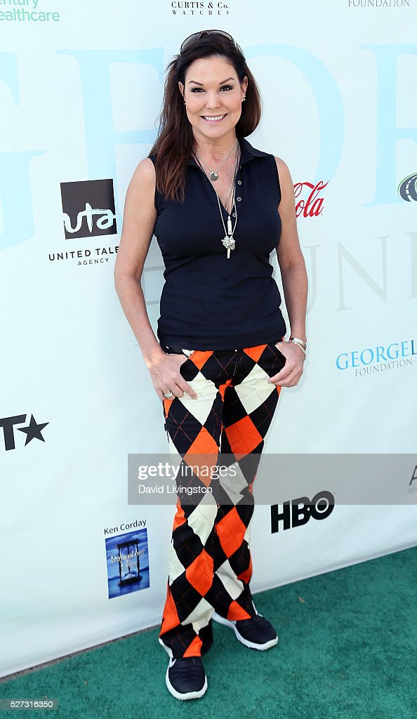 Actreess Paula Trickey attends the Ninth Annual George Lopez Celebrity Golf Classic at Lakeside Golf Club on May 2, 2016 in Burbank, California.