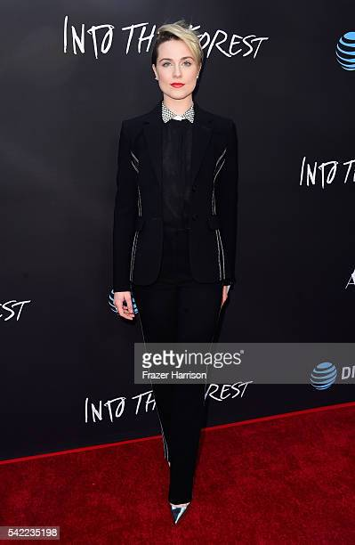 Actrerss Evan Rachel Wood attends A24's 'Into The Forest' premiere at ArcLight Hollywood on June 22 2016 in Hollywood California