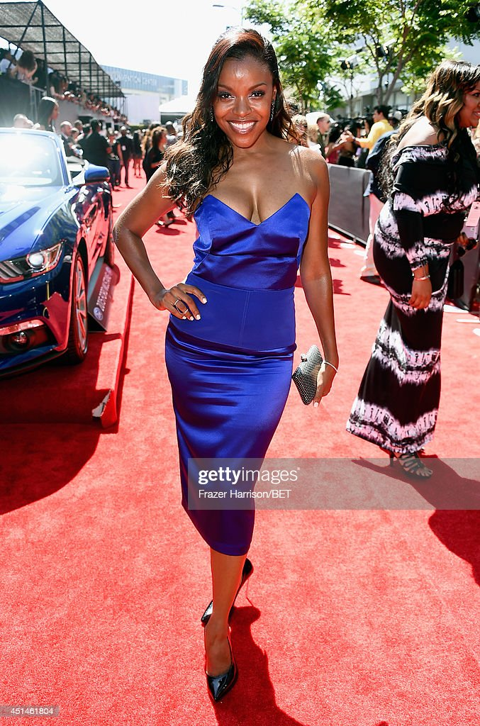 Actrerss Nadine Ellis attends the BET AWARDS '14 at Nokia Theatre LA LIVE on June 29 2014 in Los Angeles California