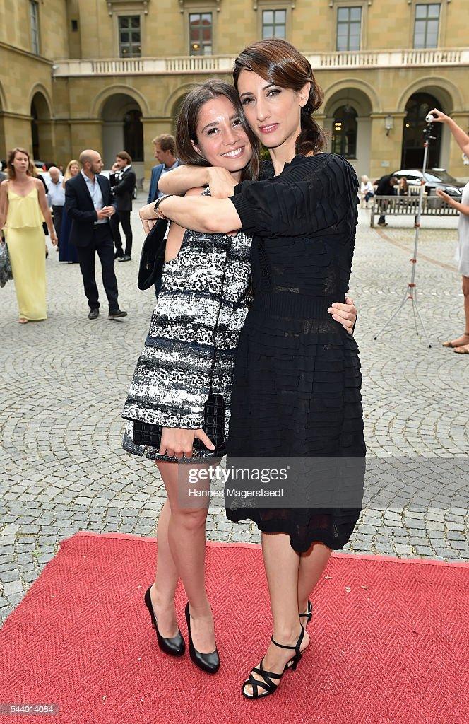 Actres Elit Iscan and Deniz Gamze Ergueven attend the Bernhard Wicki Award (Friedenspreis des Deutschen Films) during the Munich Film Festival 2016 at Cuvilles Theatre on June 30, 2016 in Munich, Germany.