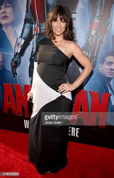 Actres Evangeline Lilly attends the world premiere of Marvel's 'AntMan' at The Dolby Theatre on June 29 2015 in Los Angeles California