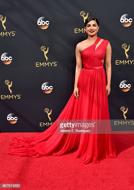 Actres Priyanka Chopra attends the 68th Annual Primetime Emmy Awards at Microsoft Theater on September 18 2016 in Los Angeles California