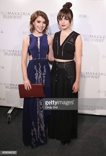Actreses Sami Gayle and Bailee Madison pose backstage at the BCBGMAXAZRIA Fall 2016 fashion show during New York Fashion Week The Shows at The Dock...