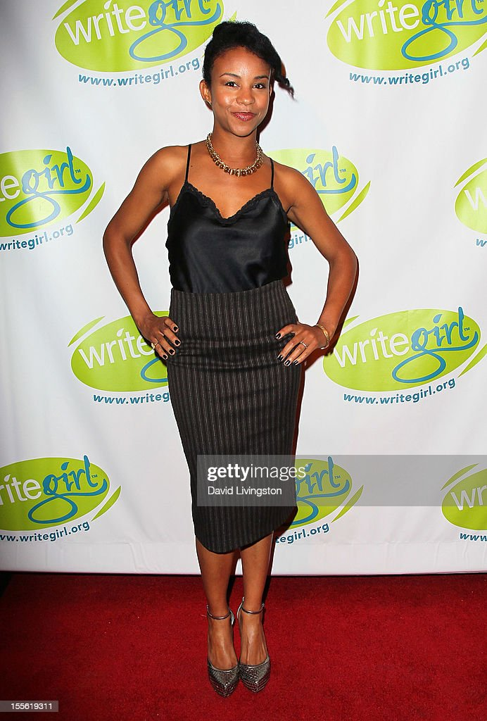 Actress Aasha Davis attends the Bold Ink Awards at the Eli and Edythe Broad Stage on November 5 2012 in Santa Monica California