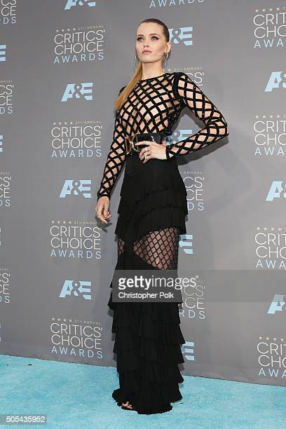Actress Abbey Lee attends the 21st Annual Critics' Choice Awards at Barker Hangar on January 17 2016 in Santa Monica California