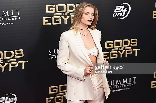 Actress Abbey Lee attends the 'Gods Of Egypt' New York Premiere at AMC Loews Lincoln Square 13 on February 24 2016 in New York City