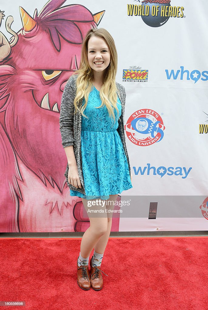 Actress <a gi-track='captionPersonalityLinkClicked' href=/galleries/search?phrase=Abbie+Cobb&family=editorial&specificpeople=8913793 ng-click='$event.stopPropagation()'>Abbie Cobb</a> arrives at Stan Lee's 'Kids Universe Day' new multi-platform children's books label unveiling at Giggles 'N' Hugs on February 2, 2013 in Century City, California.