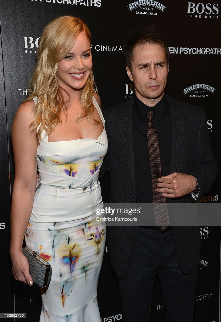 Actress Abbie Cornish and actor Sam Rockwell attend The Cinema Society with Hugo Boss and Appleton Estate screening of 'Seven Psychopaths' at Clearview Chelsea Cinemas on October 10, 2012 in New York City.