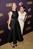 Actress Abbie Cornish and Jamie Chung attend the 'Klondike' series premiere at Best Buy Theater on January 16 2014 in New York City