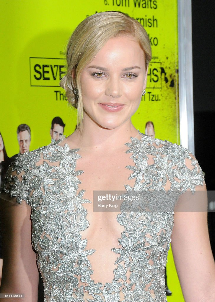 Actress Abbie Cornish arrives at the Los Angeles Premiere 'Seven Psychopaths' at Mann Bruin Theatre on October 1, 2012 in Westwood, California.