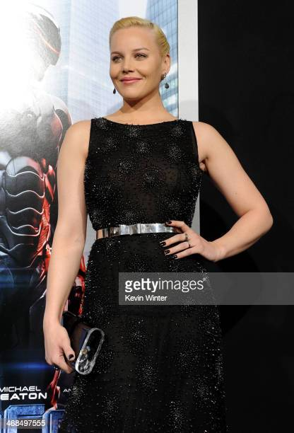 Actress Abbie Cornish arrives at the premiere of Columbia Pictures' 'Robocop' at TCL Chinese Theatre on February 10 2014 in Hollywood California