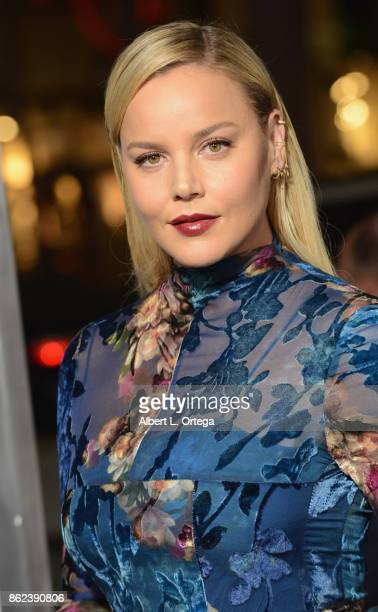 Actress Abbie Cornish arrives for the Premiere Of Warner Bros Pictures' 'Geostorm' held at TCL Chinese Theatre on October 16 2017 in Hollywood...