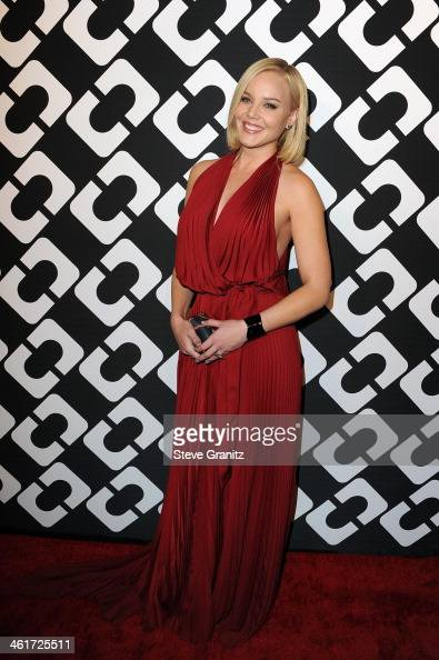 Actress Abbie Cornish attends Diane Von Furstenberg's 'Journey Of A Dress' Premiere Opening Party at Wilshire May Company Building on January 10 2014...
