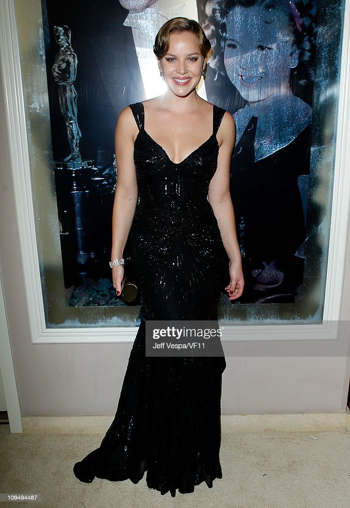 Actress Abbie Cornish attends the 2011 Vanity Fair Oscar Party Hosted by Graydon Carter at the Sunset Tower Hotel on February 27, 2011 in West Hollywood, California.