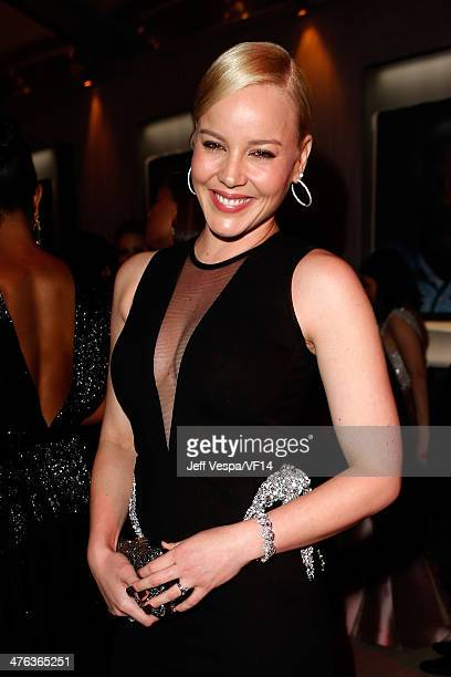 Actress Abbie Cornish attends the 2014 Vanity Fair Oscar Party Hosted By Graydon Carter on March 2 2014 in West Hollywood California