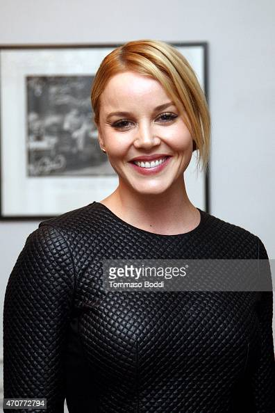 Actress Abbie Cornish attends the 2015 Art Of Elysium dinner with photographer John Russo on April 22 2015 in Los Angeles California
