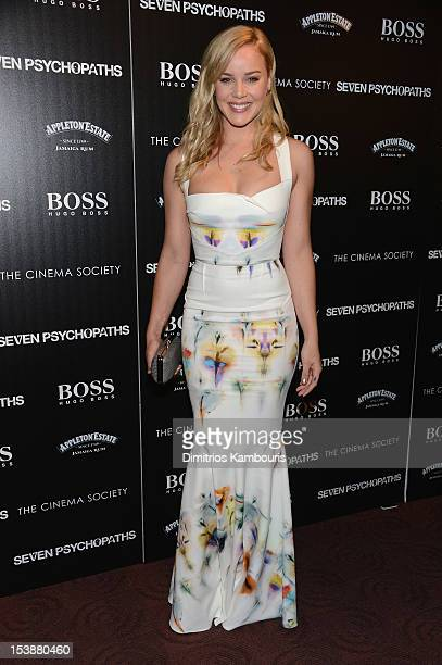 Actress Abbie Cornish attends The Cinema Society with Hugo Boss and Appleton Estate screening of 'Seven Psychopaths' at Clearview Chelsea Cinemas on...