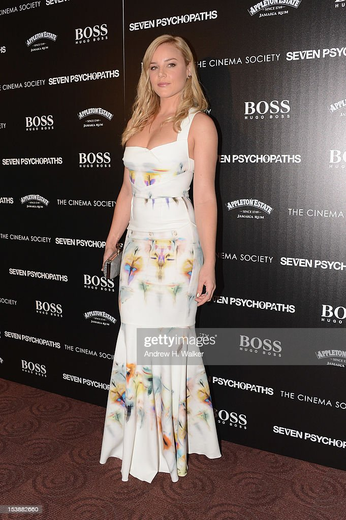 Actress Abbie Cornish attends The Cinema Society with Hugo Boss and Appleton Estate screening of 'Seven Psychopaths' at Clearview Chelsea Cinemas on October 10, 2012 in New York City.