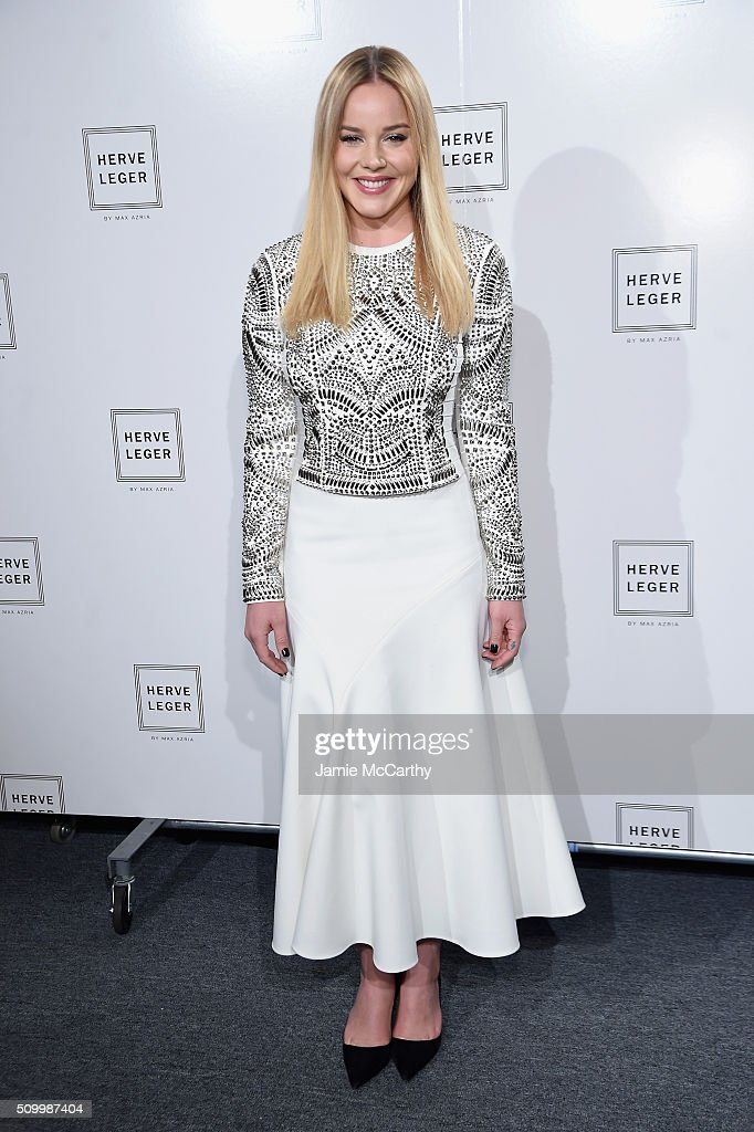 Actress <a gi-track='captionPersonalityLinkClicked' href=/galleries/search?phrase=Abbie+Cornish&family=editorial&specificpeople=213603 ng-click='$event.stopPropagation()'>Abbie Cornish</a> attends the Herve Leger By Max Azria Fall 2016 New York Fashion Week: The Shows at The Arc, Skylight at Moynihan Station on February 13, 2016 in New York City.
