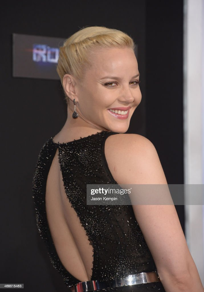 Actress Abbie Cornish attends the premiere of Columbia Pictures' 'Robocop' on February 10 2014 in Hollywood California