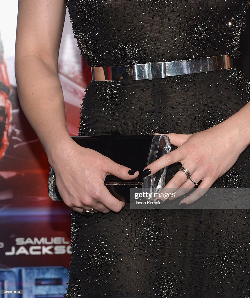 Actress Abbie Cornish attends the premiere of Columbia Pictures' 'Robocop' on February 10, 2014 in Hollywood, California.