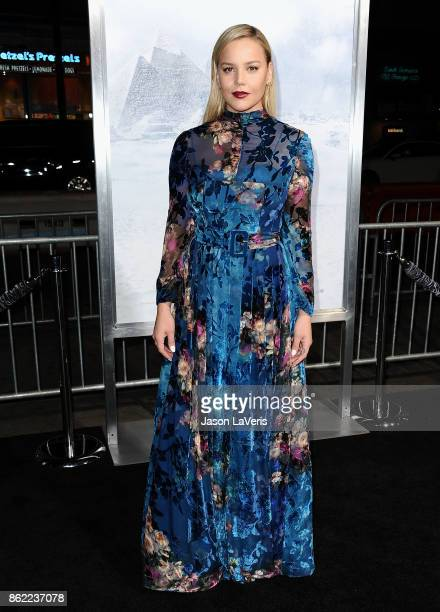 Actress Abbie Cornish attends the premiere of 'Geostorm' at TCL Chinese Theatre on October 16 2017 in Hollywood California