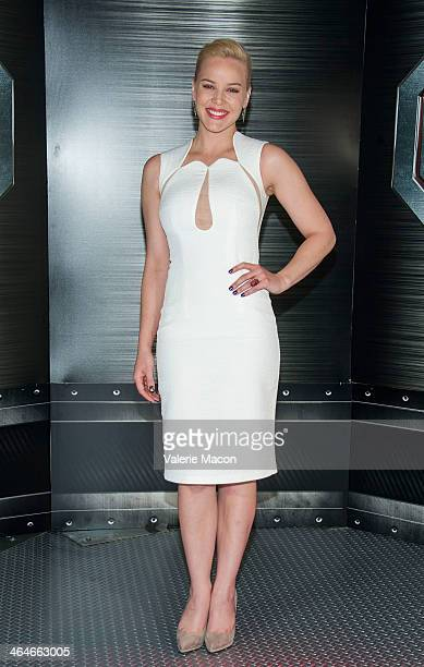 Actress Abbie Cornish attends the 'RoboCop' photo call at SLS Hotel at Beverly Hills on January 23 2014 in Los Angeles California