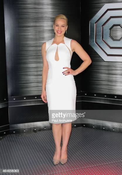 Actress Abbie Cornish attends the 'RoboCop' photo call at the SLS Hotel Beverly Hills on January 23 2014 in Los Angeles California