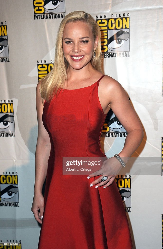 Actress Abbie Cornish attends The Sony and Screen Gems Panell featuring Robocop as part of Comic-Con International 2013 held at San Diego Convention Center on Friday July 19, 2012 in San Diego, California.