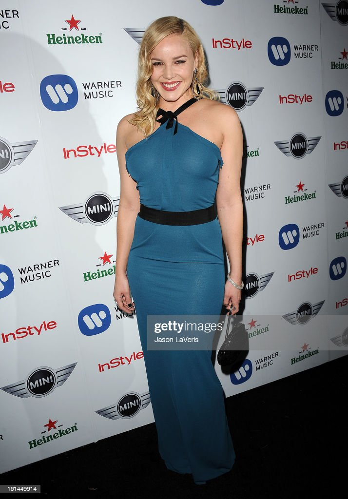 Actress Abbie Cornish attends the Warner Music Group 2013 Grammy celebration at Chateau Marmont on February 10, 2013 in Los Angeles, California.