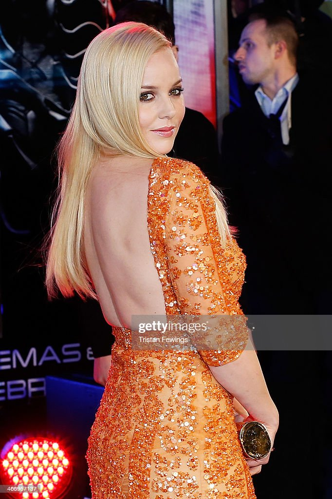 Actress <a gi-track='captionPersonalityLinkClicked' href=/galleries/search?phrase=Abbie+Cornish&family=editorial&specificpeople=213603 ng-click='$event.stopPropagation()'>Abbie Cornish</a> attends the World Premiere of 'Robocop' at BFI IMAX on February 5, 2014 in London, England.
