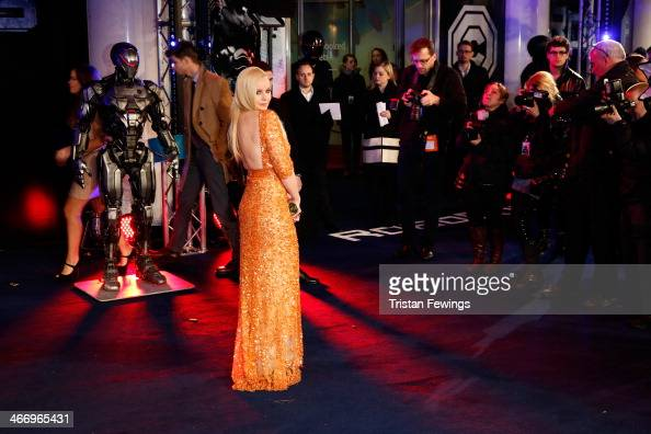 Actress Abbie Cornish attends the World Premiere of 'Robocop' at BFI IMAX on February 5 2014 in London England