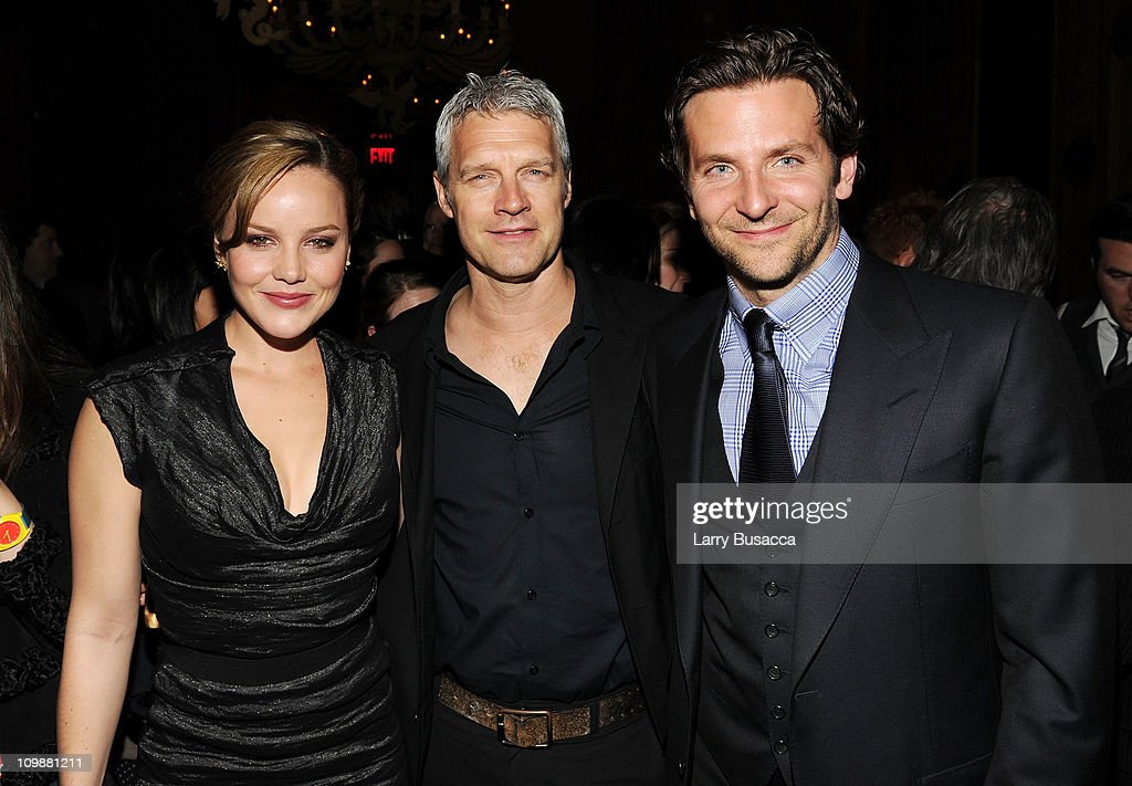 Actress Abbie Cornish director Neil Burger and actor Bradley Cooper attend the after party for Relativity Media's world premiere of 'Limitless'...