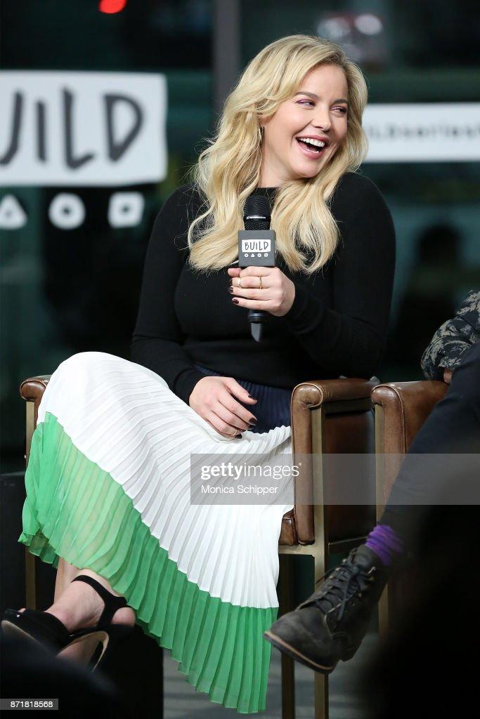 Actress Abbie Cornish discusses 'Three Billboards Outside Ebbing, Missouri' at Build Studio on November 8, 2017 in New York City.