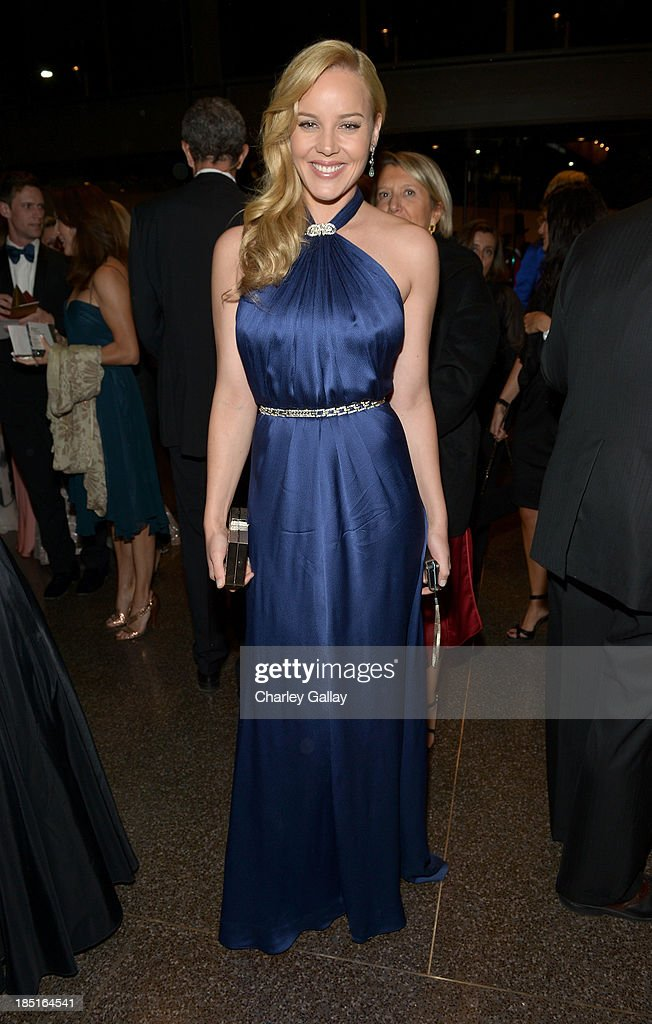 Actress Abbie Cornish wearing Ferragamo attends the Wallis Annenberg Center for the Performing Arts Inaugural Gala presented by Salvatore Ferragamo...