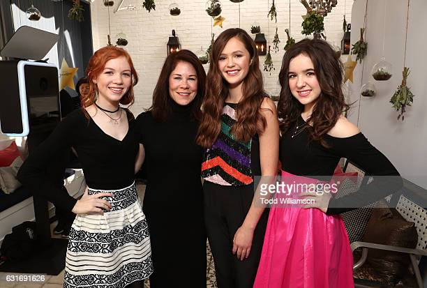 Actress Abby Donnelly Amazon Studios Head of Kids Programming Tara Sorensen actors Olivia Sanabia and Aubrey Miller attend the second season premiere...