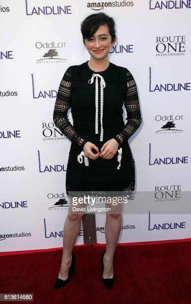 Actress Abby Quinn attends the premiere of Amazon Studios' 'Landline' at ArcLight Hollywood on July 12 2017 in Hollywood California