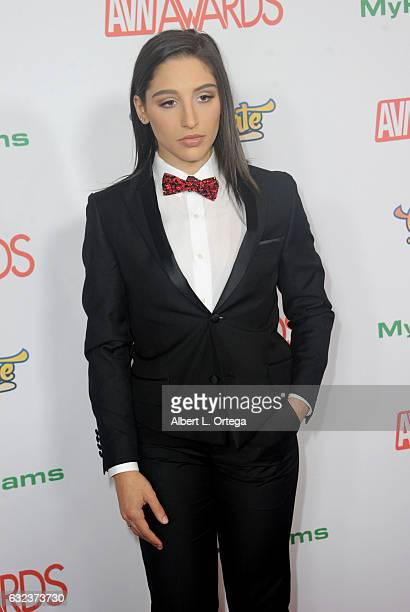 Actress Abella Danger arrives at the 2017 Adult Video News Awards held at the Hard Rock Hotel Casino on January 21 2017 in Las Vegas Nevada