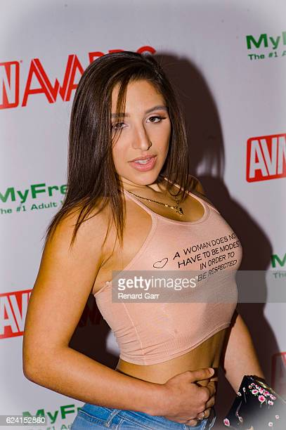 Actress Abella Danger arrives for the 2017 AVN Nomination Party at Avalon on November 17 2016 in Hollywood California