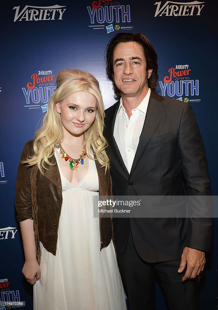 Actress Abigail Breslin and actor Dermot Mulroney attend Variety's Power of Youth presented by Hasbro Inc and generationOn at Universal Studios...
