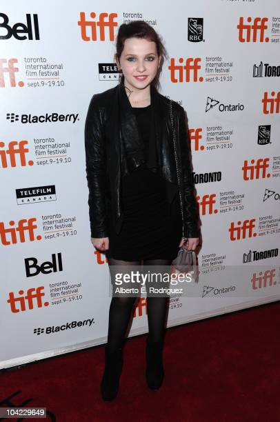 Actress Abigail Breslin attends 'Janie Jones' Premiere during the 35th Toronto International Film Festivalat Roy Thomson Hall on September 17 2010 in...