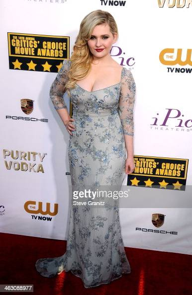 Actress Abigail Breslin attends the 19th Annual Critics' Choice Movie Awards at Barker Hangar on January 16 2014 in Santa Monica California
